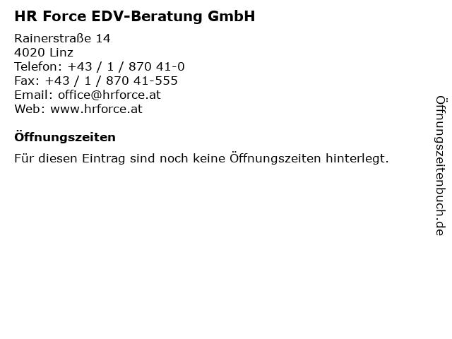 HR Force EDV-Beratung GmbH in Linz: Adresse und Öffnungszeiten