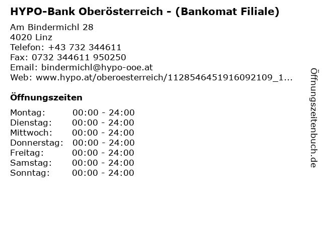 HYPO-Bank Oberösterreich - (Bankomat Filiale) in Linz: Adresse und Öffnungszeiten