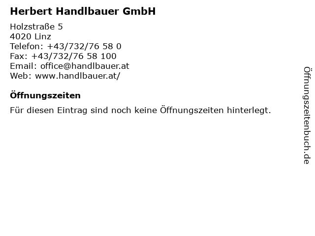 Herbert Handlbauer GmbH in Linz: Adresse und Öffnungszeiten
