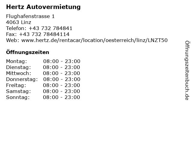 Hertz Autovermietung in Linz: Adresse und Öffnungszeiten