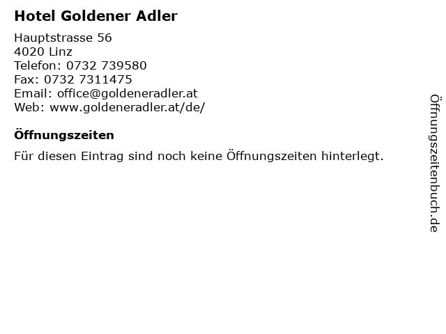 Hotel Goldener Adler in Linz: Adresse und Öffnungszeiten