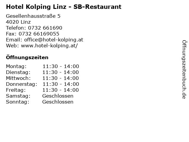 Hotel Kolping Linz - SB-Restaurant in Linz: Adresse und Öffnungszeiten