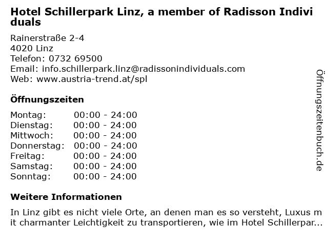 Austria Trend Hotel Schillerpark | Bar in Linz: Adresse und Öffnungszeiten
