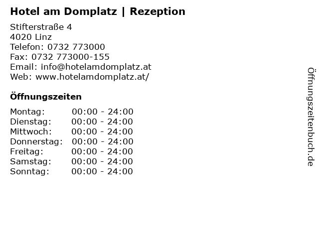Hotel am Domplatz | Rezeption in Linz: Adresse und Öffnungszeiten