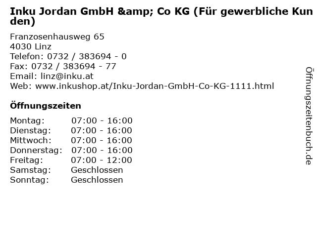 Inku Jordan GmbH & Co KG (Für gewerbliche Kunden) in Linz: Adresse und Öffnungszeiten