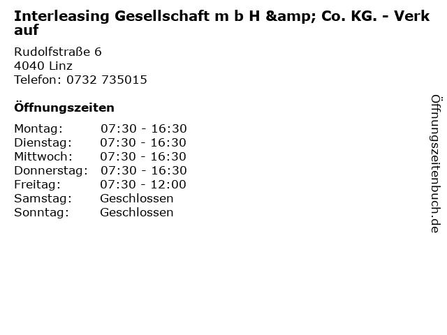 Interleasing Gesellschaft m b H & Co. KG. - Verkauf in Linz: Adresse und Öffnungszeiten
