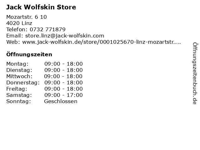 Jack Wolfskin Store in Linz: Adresse und Öffnungszeiten