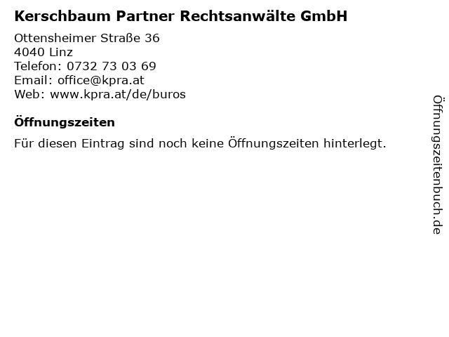 Kerschbaum Partner Rechtsanwälte GmbH in Linz: Adresse und Öffnungszeiten