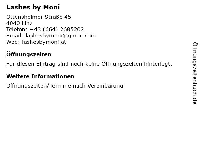 Lashes by Moni in Linz: Adresse und Öffnungszeiten
