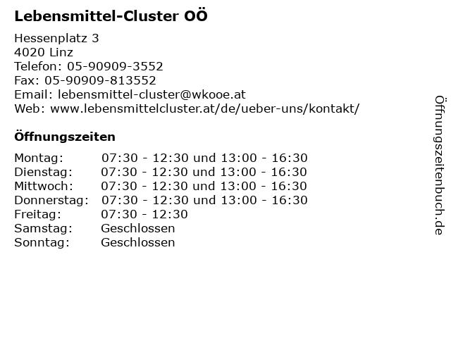 Lebensmittel-Cluster OÖ in Linz: Adresse und Öffnungszeiten