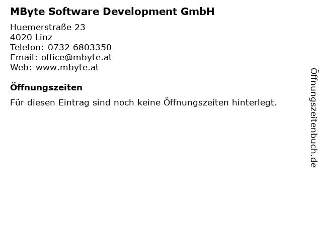 MByte Software Development GmbH in Linz: Adresse und Öffnungszeiten