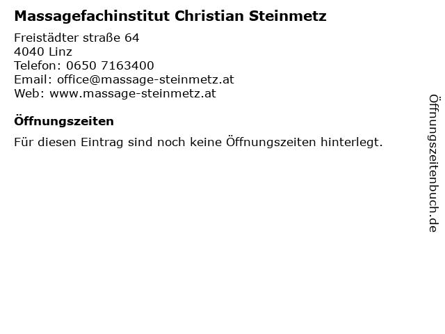Massagefachinstitut Christian Steinmetz in Linz: Adresse und Öffnungszeiten