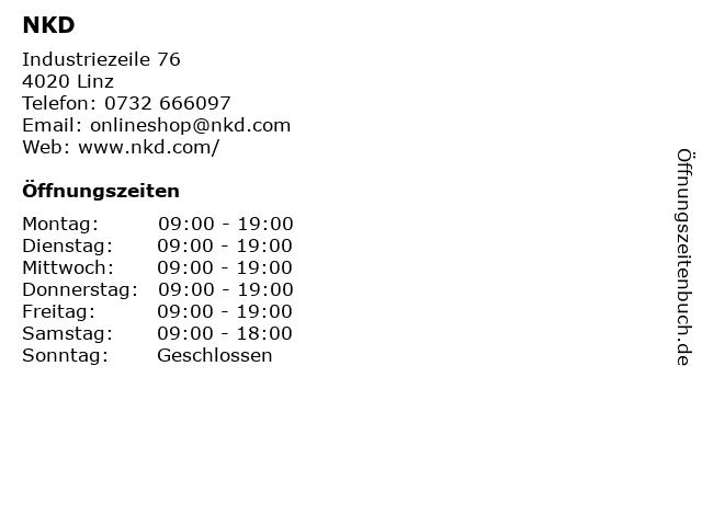 NKD in Linz: Adresse und Öffnungszeiten