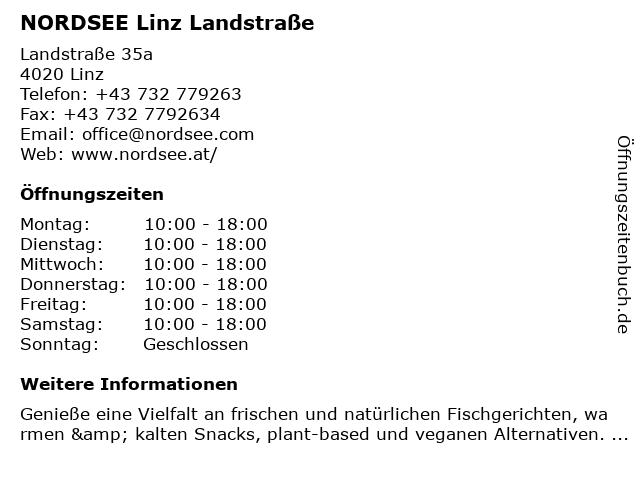 NORDSEE Linz Landstraße in Linz: Adresse und Öffnungszeiten