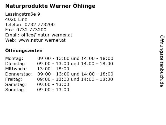 Naturprodukte Werner Öhlinge in Linz: Adresse und Öffnungszeiten