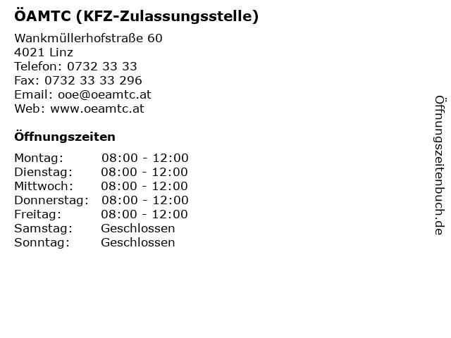 ÖAMTC (KFZ-Zulassungsstelle) in Linz: Adresse und Öffnungszeiten