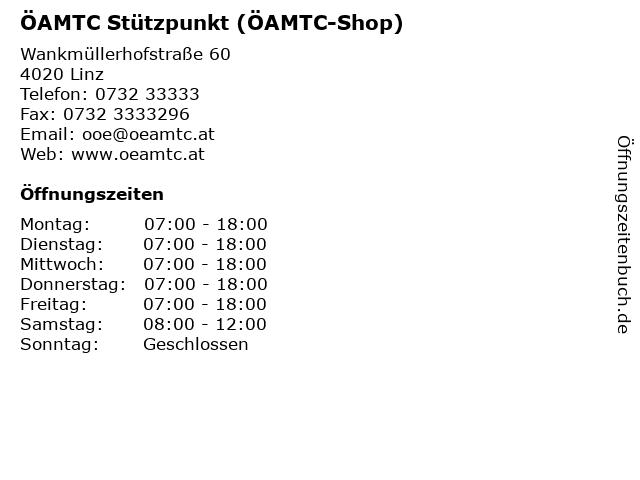 ÖAMTC Stützpunkt (ÖAMTC-Shop) in Linz: Adresse und Öffnungszeiten