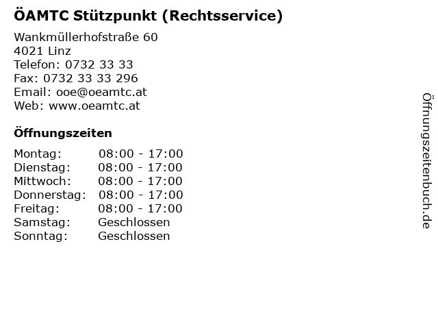 ÖAMTC Stützpunkt (Rechtsservice) in Linz: Adresse und Öffnungszeiten