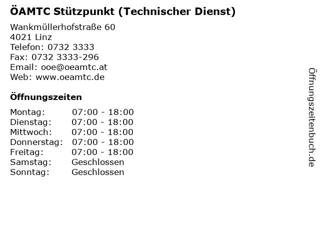 ÖAMTC Stützpunkt (Technischer Dienst) in Linz: Adresse und Öffnungszeiten