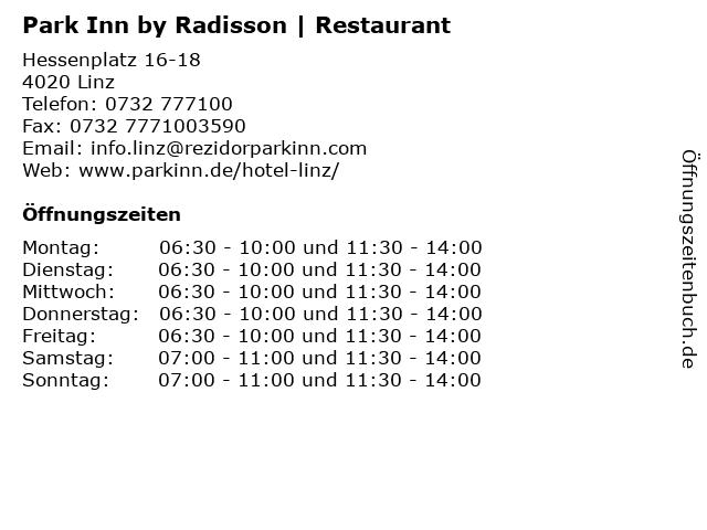 Park Inn by Radisson | Restaurant in Linz: Adresse und Öffnungszeiten