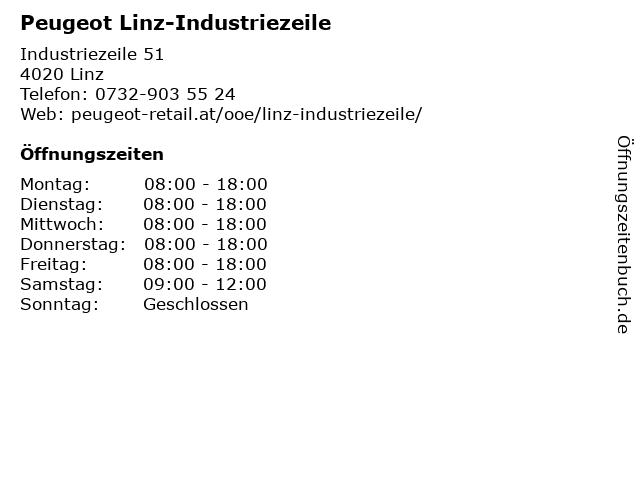 Peugeot Linz-Industriezeile in Linz: Adresse und Öffnungszeiten