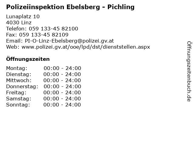 Polizeiinspektion Ebelsberg - Pichling in Linz: Adresse und Öffnungszeiten
