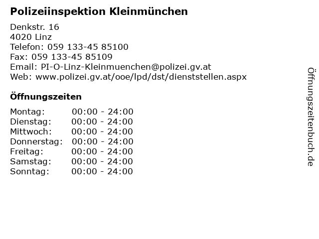 Polizeiinspektion Kleinmünchen in Linz: Adresse und Öffnungszeiten
