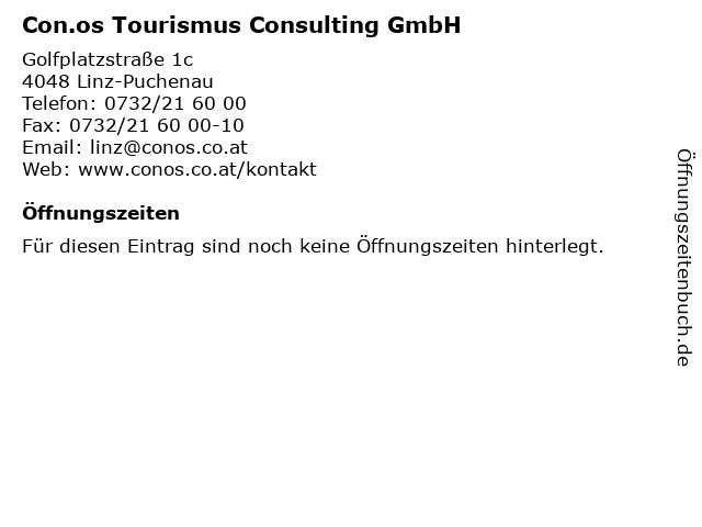 Con.os Tourismus Consulting GmbH in Linz-Puchenau: Adresse und Öffnungszeiten