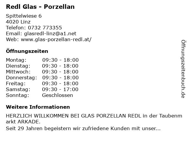 Redl Glas - Porzellan in Linz: Adresse und Öffnungszeiten