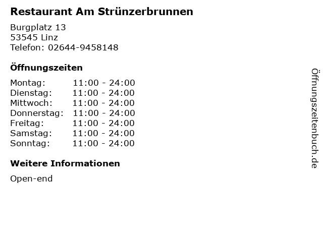 Restaurant Am Strünzerbrunnen in Linz: Adresse und Öffnungszeiten