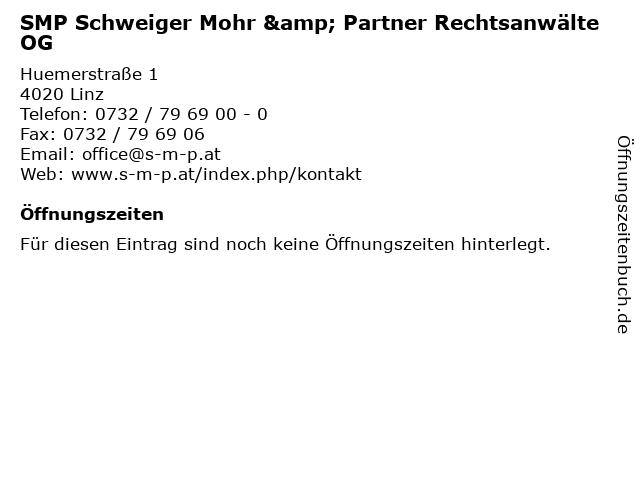 SMP Schweiger Mohr & Partner Rechtsanwälte OG in Linz: Adresse und Öffnungszeiten
