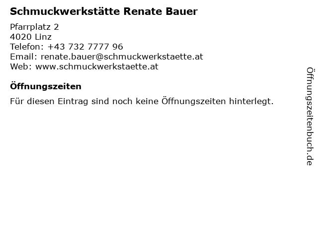 Schmuckwerkstätte Renate Bauer in Linz: Adresse und Öffnungszeiten