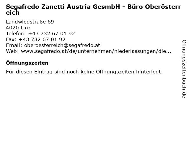 Segafredo Zanetti Austria GesmbH - Büro Oberösterreich in Linz: Adresse und Öffnungszeiten