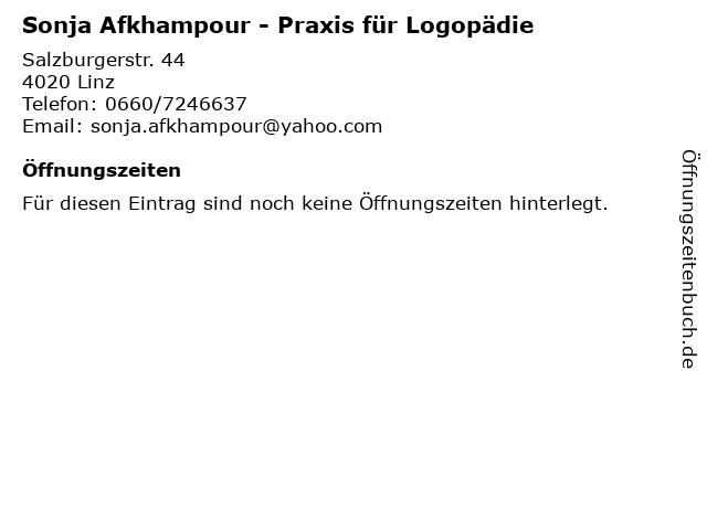 Sonja Afkhampour - Praxis für Logopädie in Linz: Adresse und Öffnungszeiten