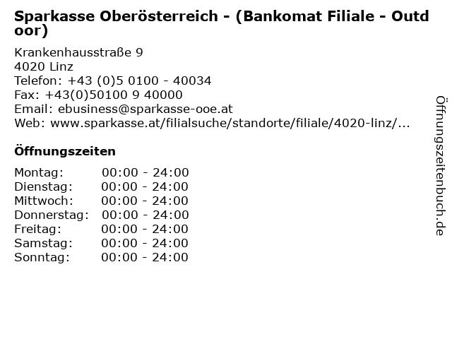 Sparkasse Oberösterreich - (Bankomat Filiale - Outdoor) in Linz: Adresse und Öffnungszeiten