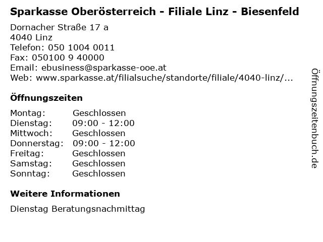 ᐅ öffnungszeiten Sparkasse Oberösterreich Filiale Linz