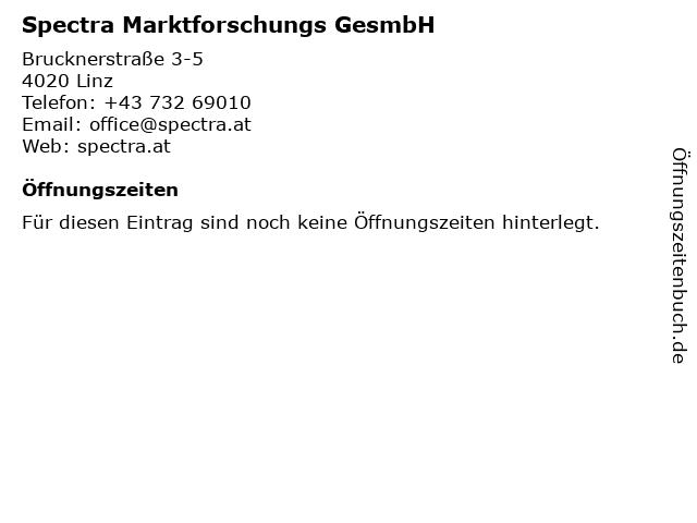 Spectra Marktforschungs GesmbH in Linz: Adresse und Öffnungszeiten