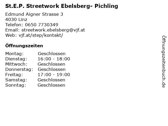 St.E.P. Streetwork Ebelsberg- Pichling in Linz: Adresse und Öffnungszeiten