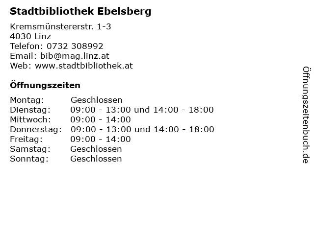 Stadtbibliothek Ebelsberg in Linz: Adresse und Öffnungszeiten