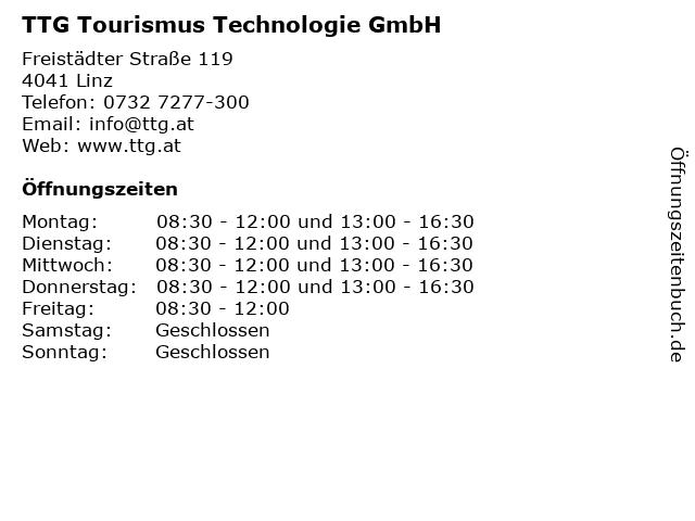TTG Tourismus Technologie GmbH in Linz: Adresse und Öffnungszeiten