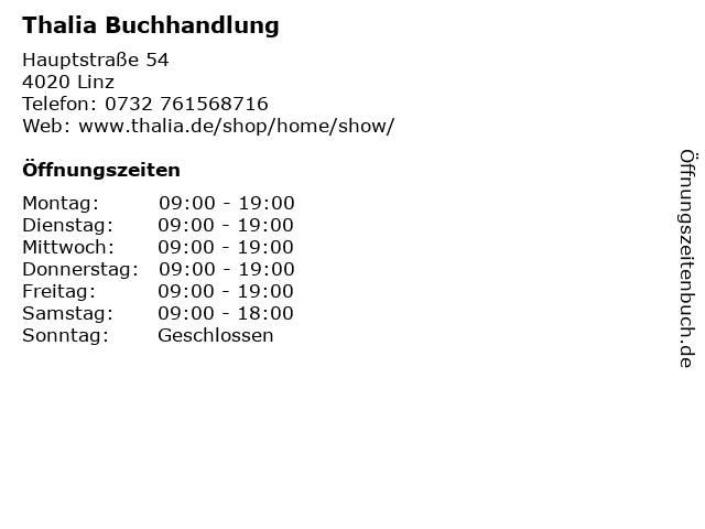 Thalia Buchhandlung in Linz: Adresse und Öffnungszeiten