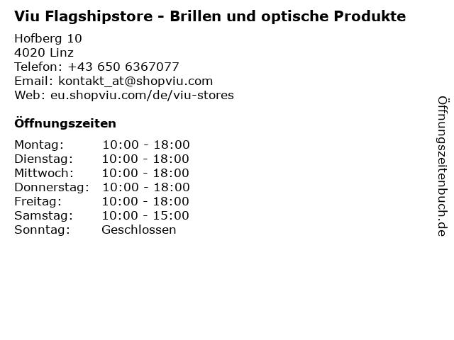 Viu Flagshipstore - Brillen und optische Produkte in Linz: Adresse und Öffnungszeiten