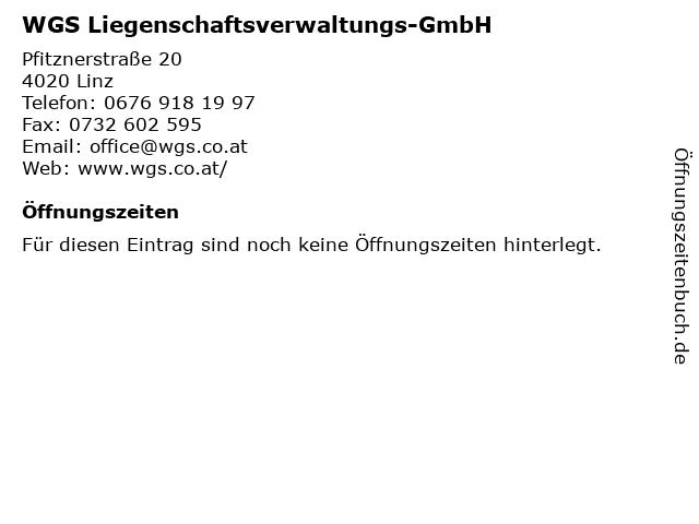 WGS Liegenschaftsverwaltungs-GmbH in Linz: Adresse und Öffnungszeiten