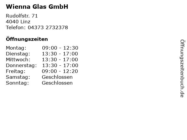 Wienna Glas GmbH in Linz: Adresse und Öffnungszeiten