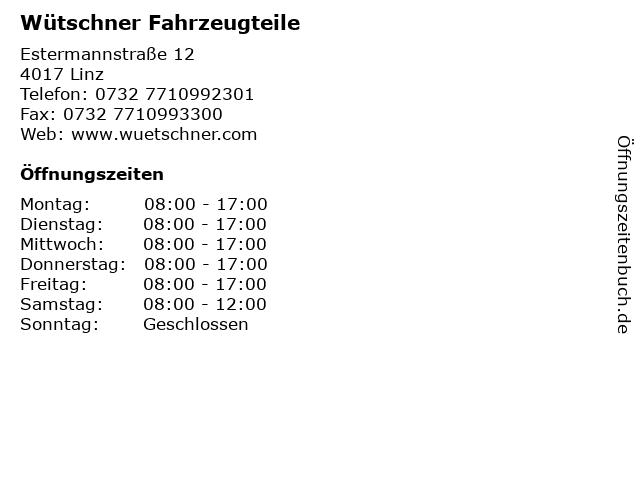 Wütschner Fahrzeugteile in Linz: Adresse und Öffnungszeiten