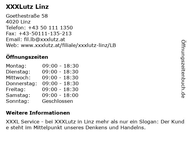 XXXLutz Linz in Linz: Adresse und Öffnungszeiten
