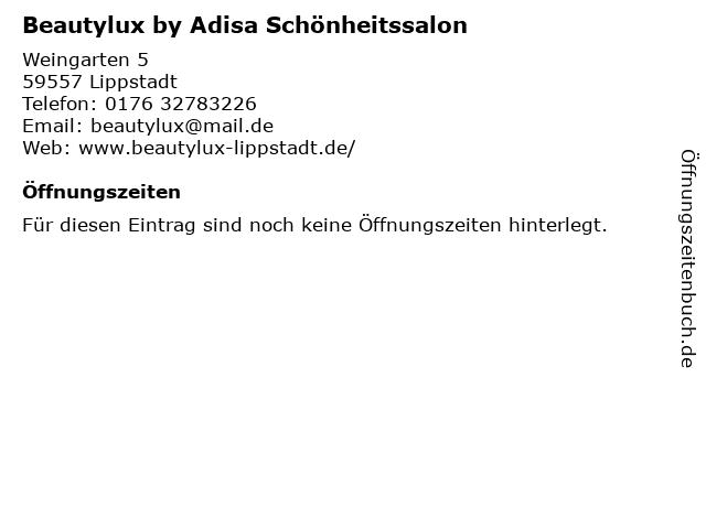 Beautylux by Adisa Schönheitssalon in Lippstadt: Adresse und Öffnungszeiten