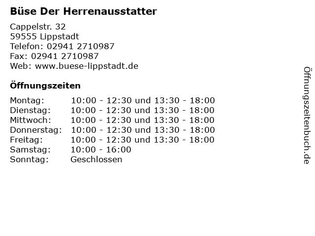 Büse Der Herrenausstatter in Lippstadt: Adresse und Öffnungszeiten