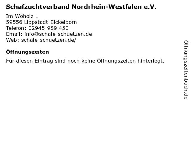 Schafzuchtverband Nordrhein-Westfalen e.V. in Lippstadt-Eickelborn: Adresse und Öffnungszeiten