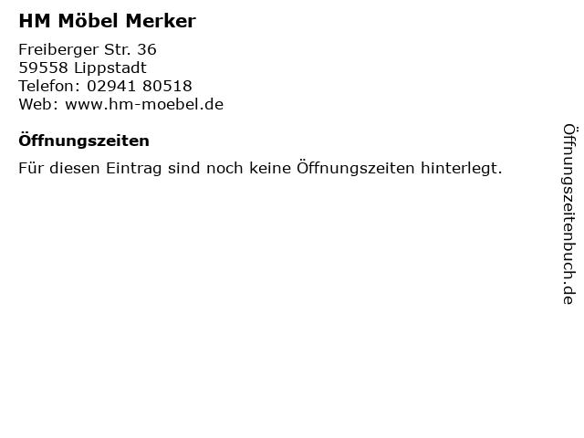 ᐅ öffnungszeiten Hm Möbel Merker Freiberger Str 36 In Lippstadt